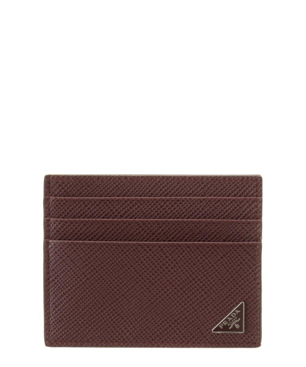 98a1c6db129a ... wholesale prada prada saffiano cuir leather credit card holder. prada  wallets ff222 73b6d