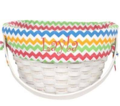 Multi Chevron Lined Easter Basket by FunkyFleurs on Etsy, $32.00