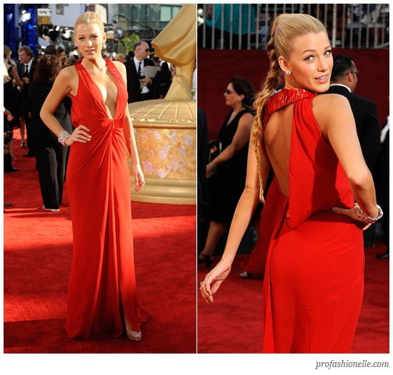 Blake Lively Versace Red Dress  Pinterest  Role models Red ...