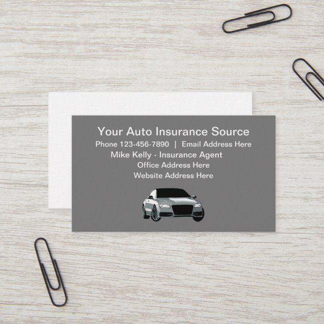 Car Insurance Agent Business Card | Zazzle.com in 2020 ...
