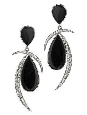 Women S White Gold Earring By Jorge Adeler 14kt Black Onyx