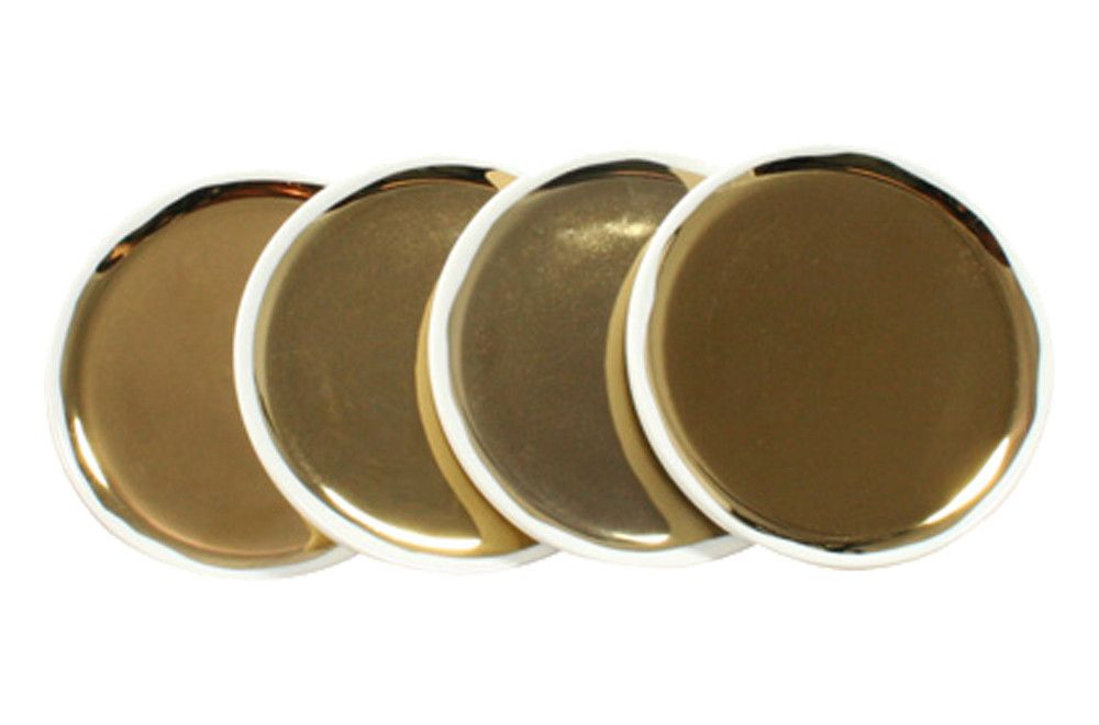 Dauville Coasters in Gold via Canvas Home ($46)