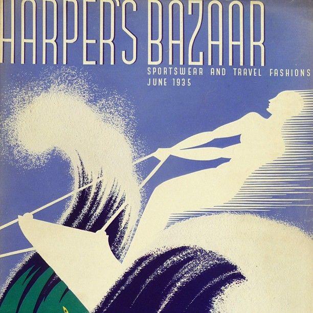 Harper's Bazaar 'Sportswear and Travel' cover by Erte, June 1935