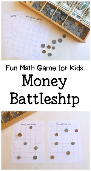 Money Battleship Fun Math Game For Kids  Battleship Gaming And Math