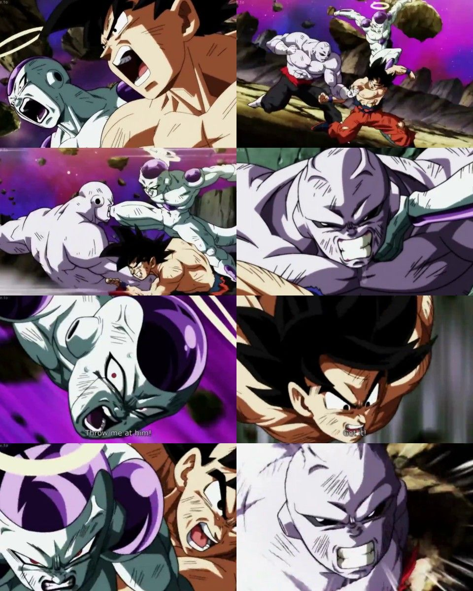 frieza and goku vs jiren db dbz dbs dbh dragon ball goku dragon