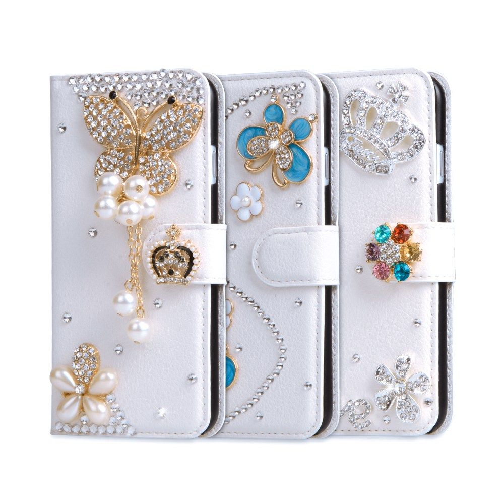 Rhinestone Case For Asus Zenfone 3 Max Case Glitter Wallet PU Leather Cover  For Zenfone Max 585447186d40