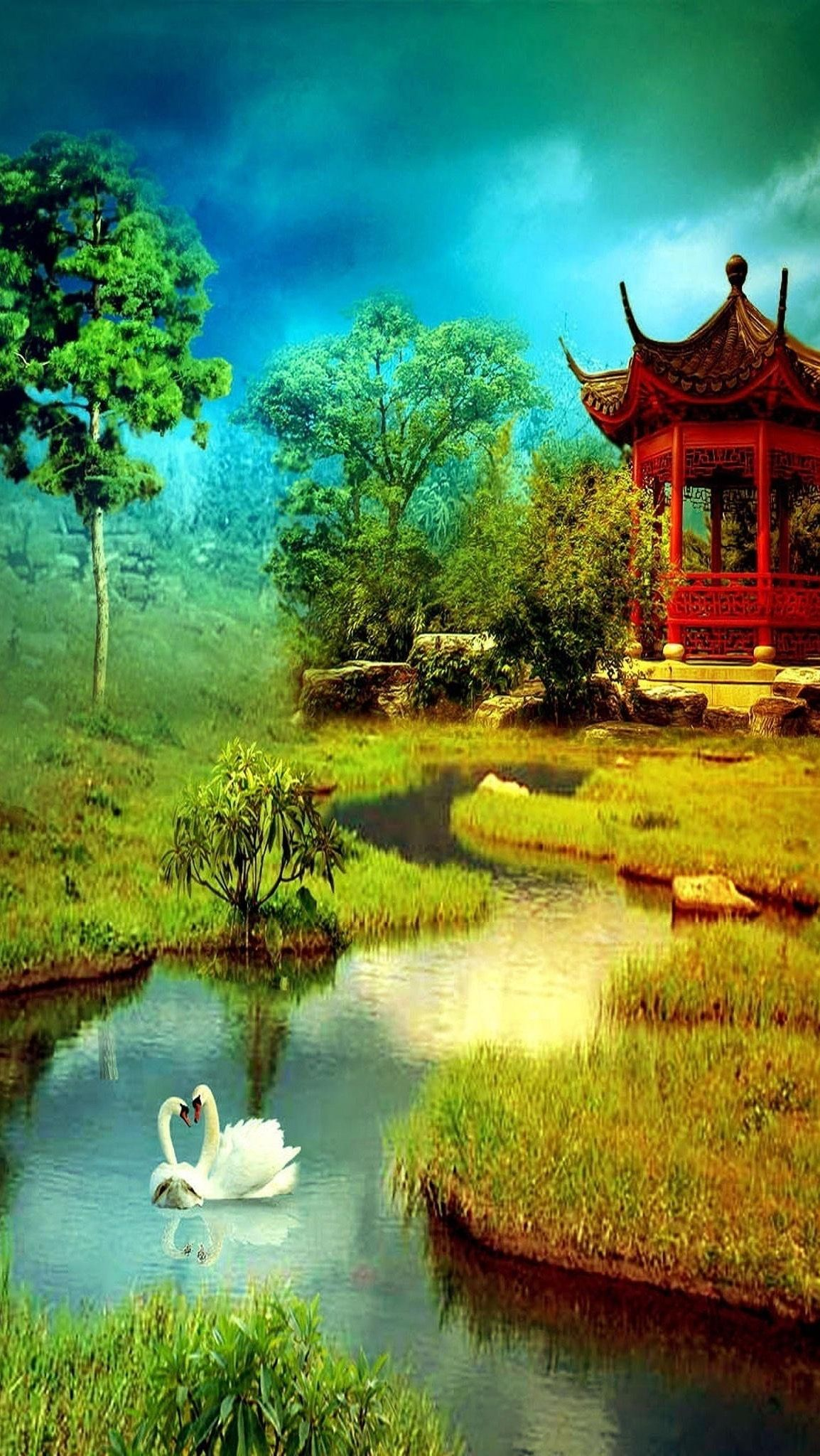 Pin by Ai Nguyen on Arts | 3d wallpaper for mobile, Nature ...
