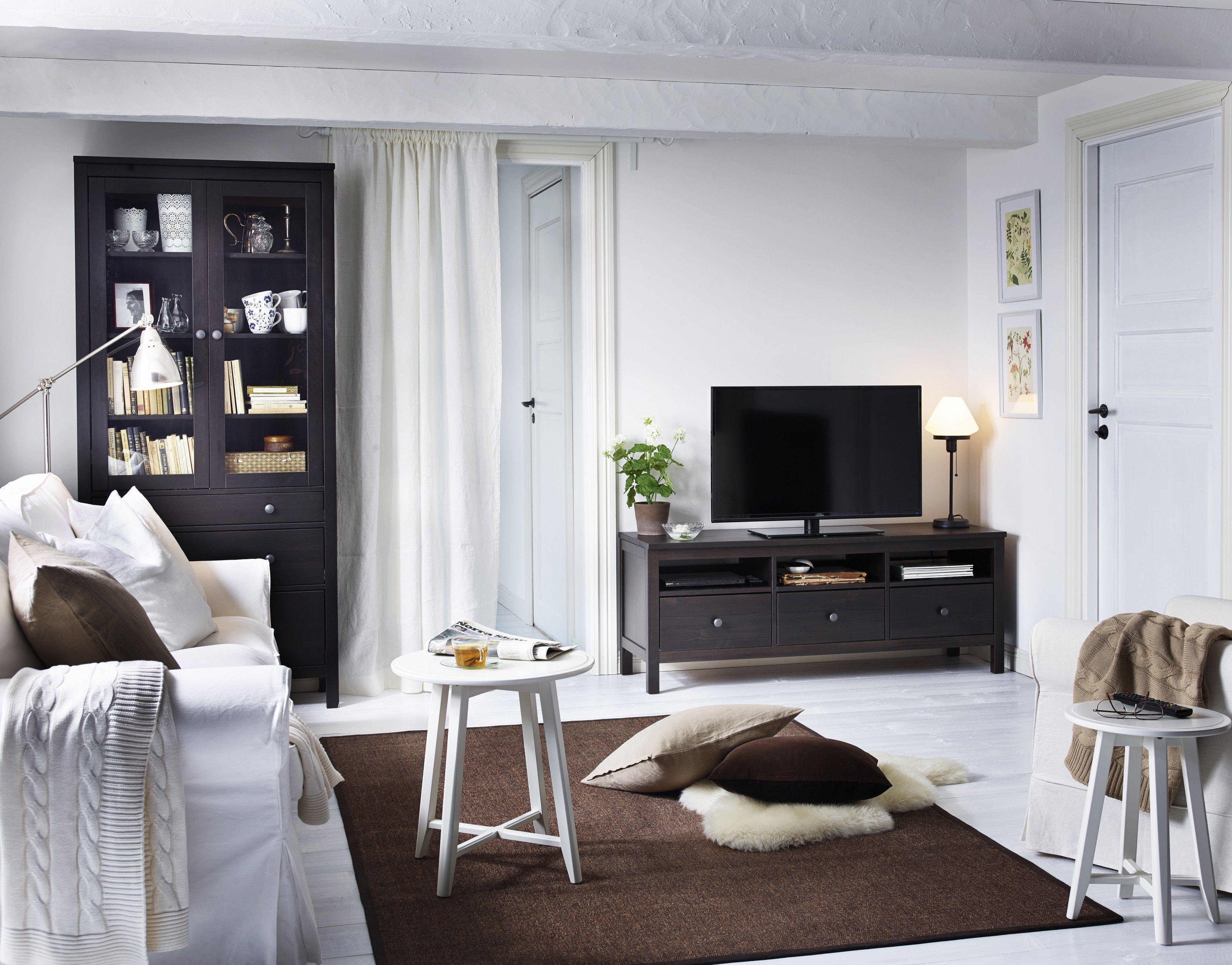 Hemnes Tv Meubel.Hemnes Tv Meubel Zwartbruin Home Ikea Living Room Living