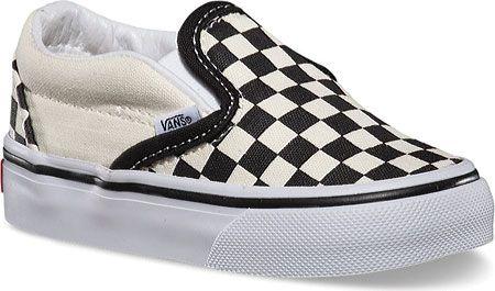 Infants/Toddlers Vans Checkerboard Slip-On - Black/White Checker/White - FREE Shipping & Exchanges | Shoebuy.com