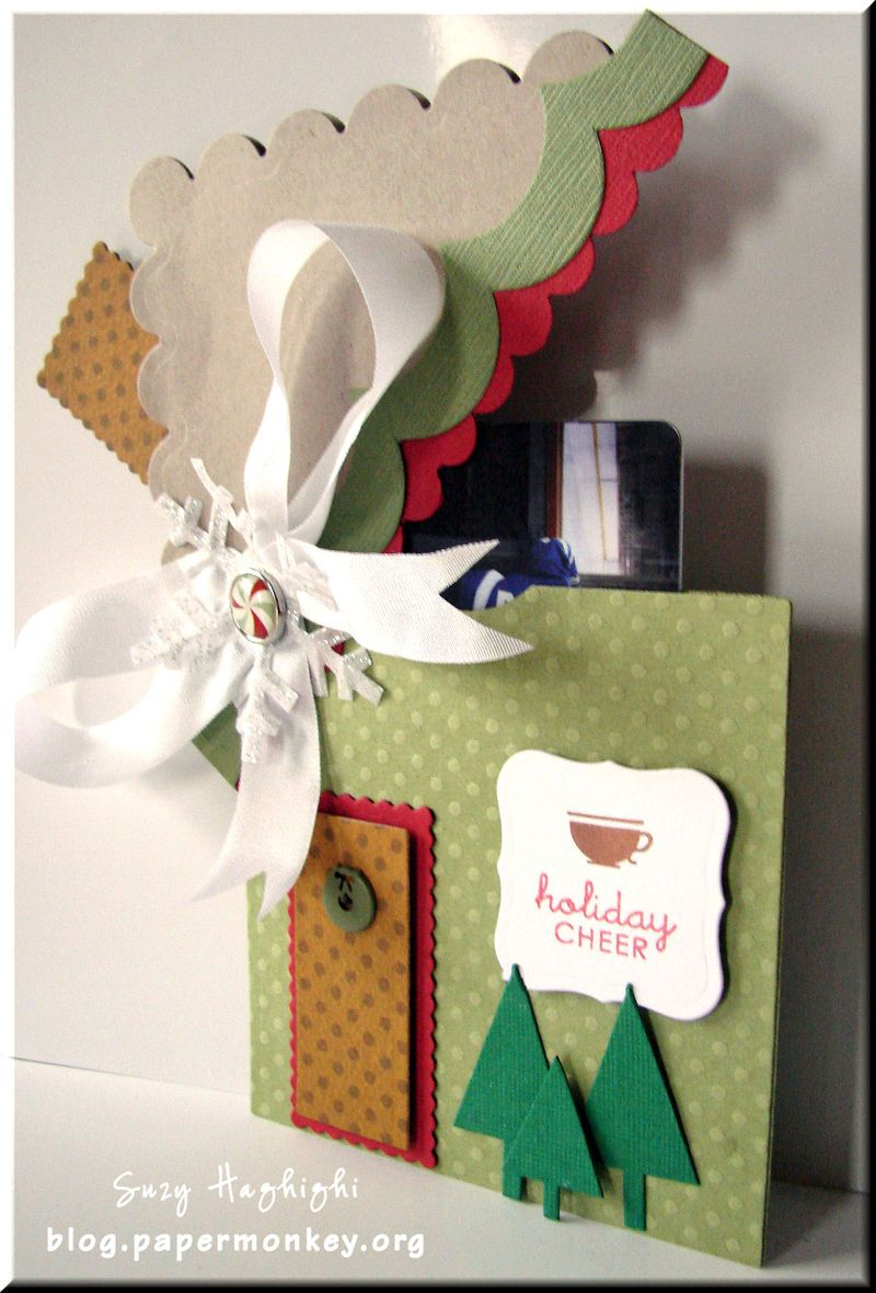 Holiday House Gift Card Holder Tutorial