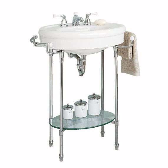 American Standard Standard Console Sink With Chrome Legs Traditional Bathroom Sinks Console Sink Console Sinks