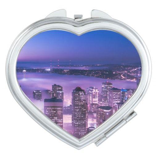 Purple Shades Seattle Panorama Compact Mirror