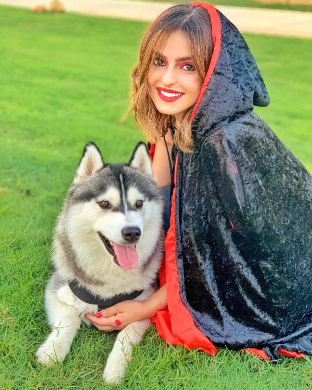 Safa Srour صفا سرور On Instagram Happy Halloween هلوين سعيد للكل من ليلى و الذئب ليو شو كنتو للهلوين هي السنة Halloween Duba Clothes Fashion Dogs
