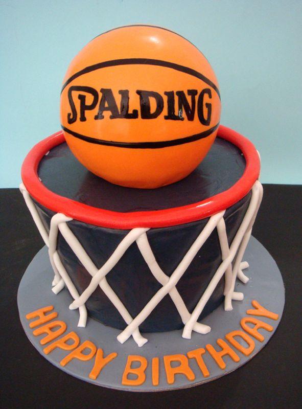 Basketball birthday cakes on pinterest basketball cakes basketball