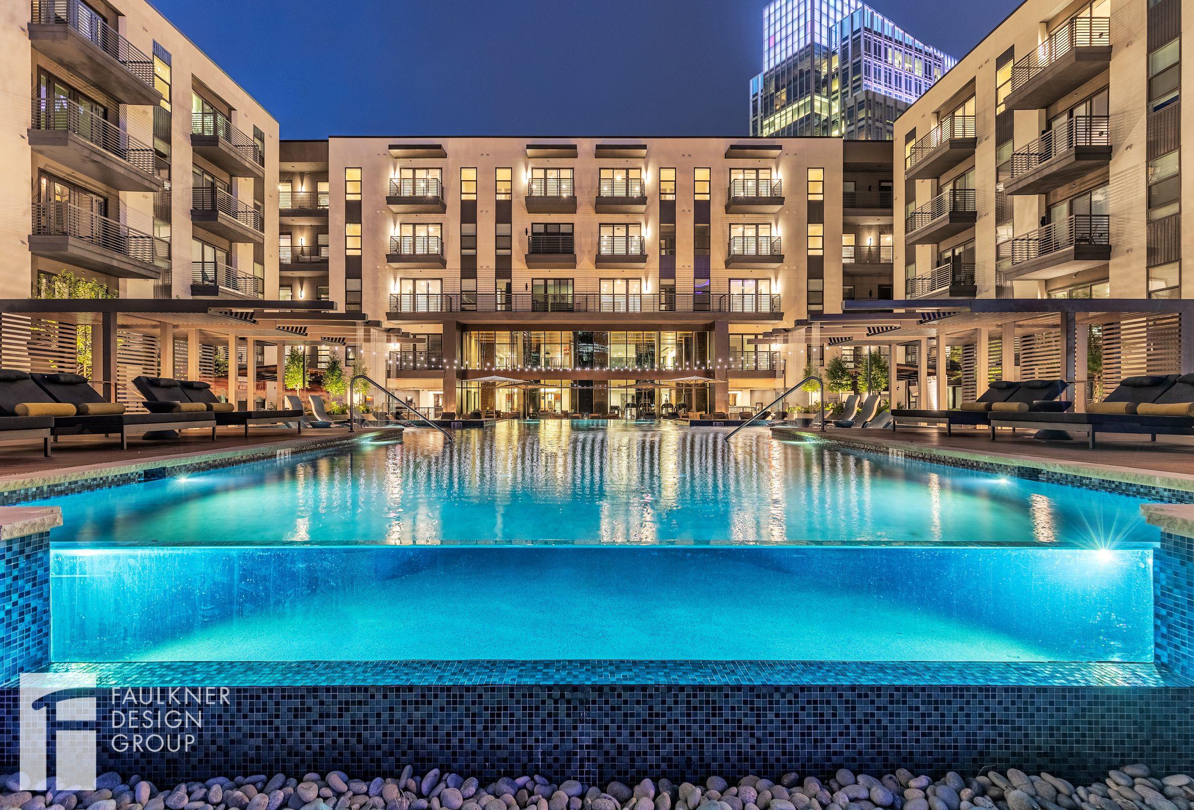 Designed By Faulkner Design Group Infinitypool Outdoorlounge Amenityspace Loungearea Luxurypool Luxury Pool Glass Pool Outdoor Pool