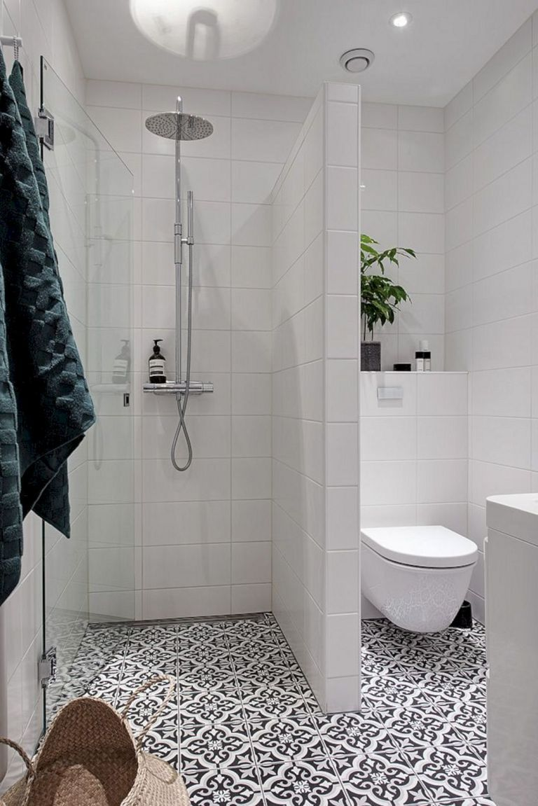 24 Elegant Small Bathroom Shower Design Ideas   Small ... on Simple Bathroom Designs For Small Spaces  id=47209