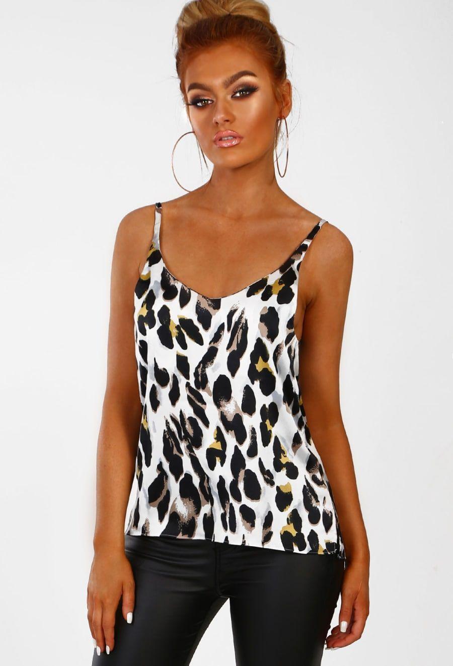 c0998c6e6bdb In The Wild White Leopard Print Cami Top - 6 | NEW IN at PB ...