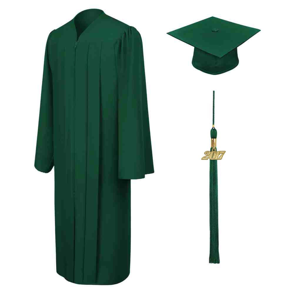 Matte hunter cap gown u tassel all of our graduation sets arrive