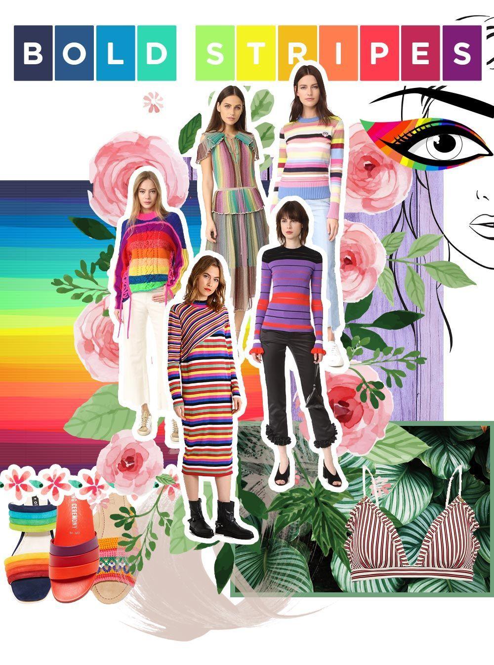 Fashion Mood Board Bold Stripes, Trend 2017, Fashion ...