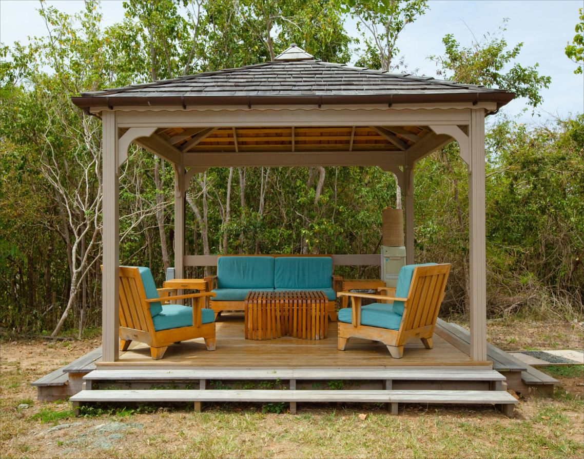 deck canopy cozy outdoor frameless simple wooden gazebo gazebo