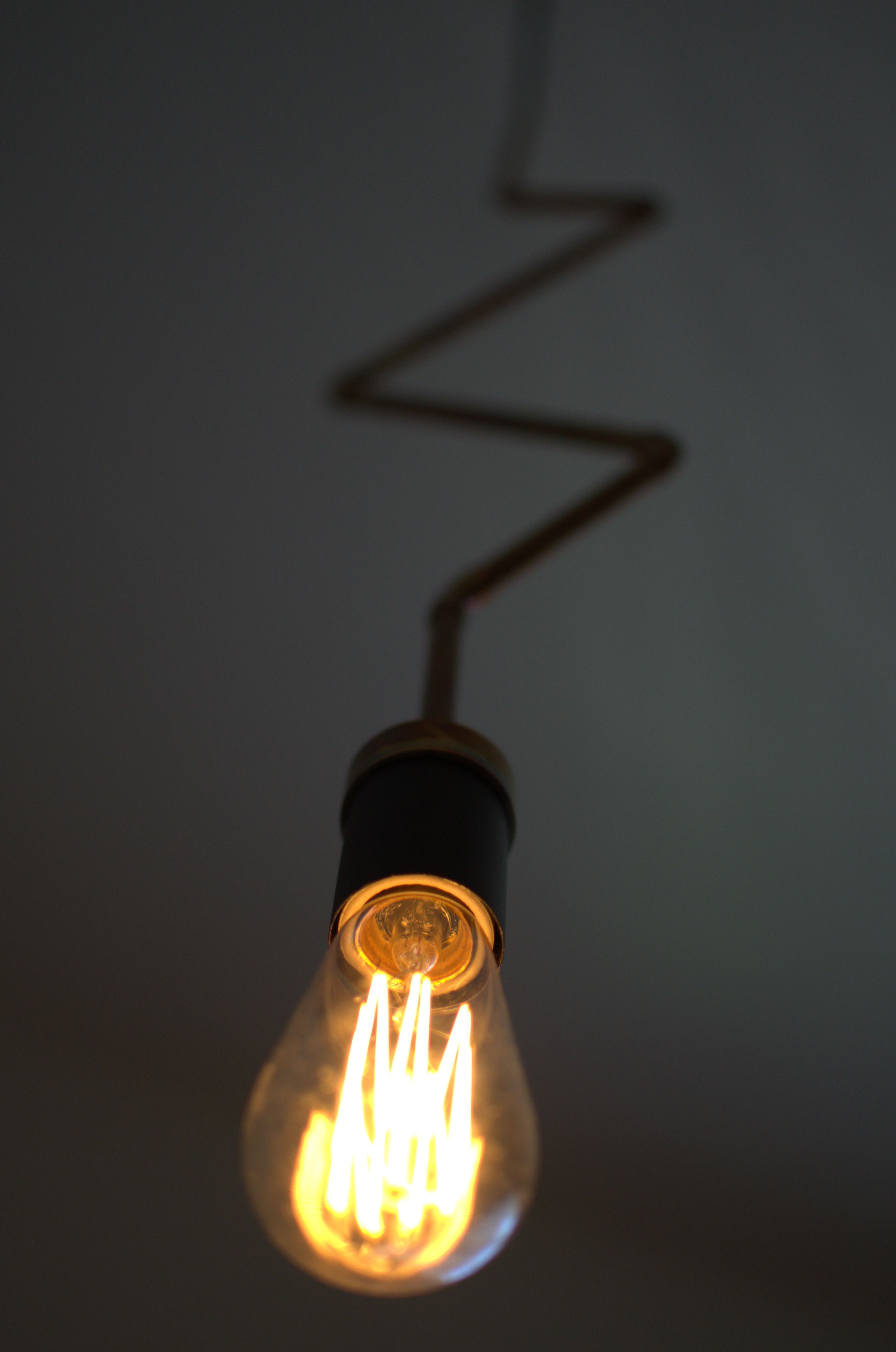 Plug In Pendant Light Industrial Lighting Geometric Copper Zig Zag Hanging Edison Lamp Chandelier Unique Lig Unique Items Products Light Fixtures Light