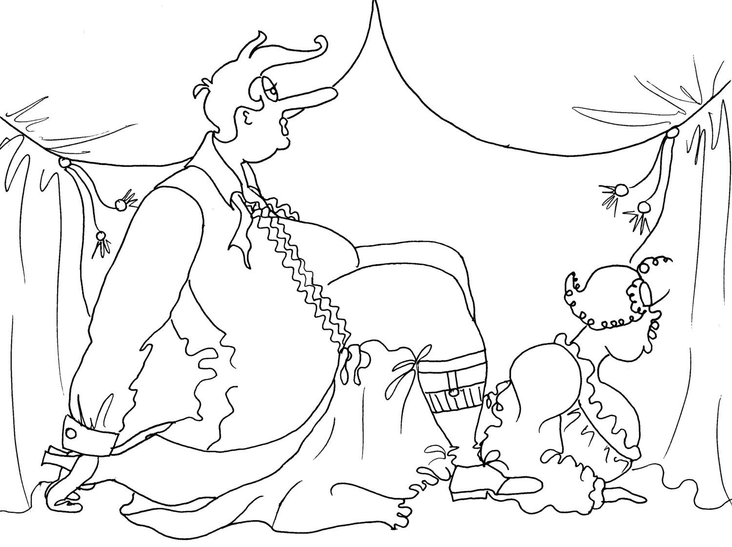 The Landslide Kama Sutra Pose - Sexy Coloring Pages from the Chubby ...