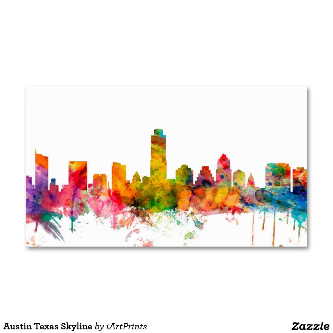 Austin texas skyline business card austin tx austin texas skyline business card colourmoves