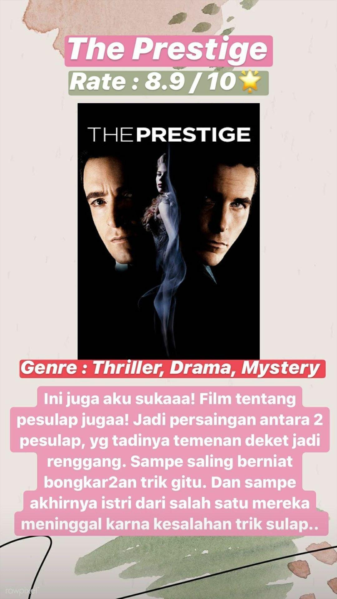 The Prestige Film Rekomendasi Di 2020 The Prestige Film Film Bagus
