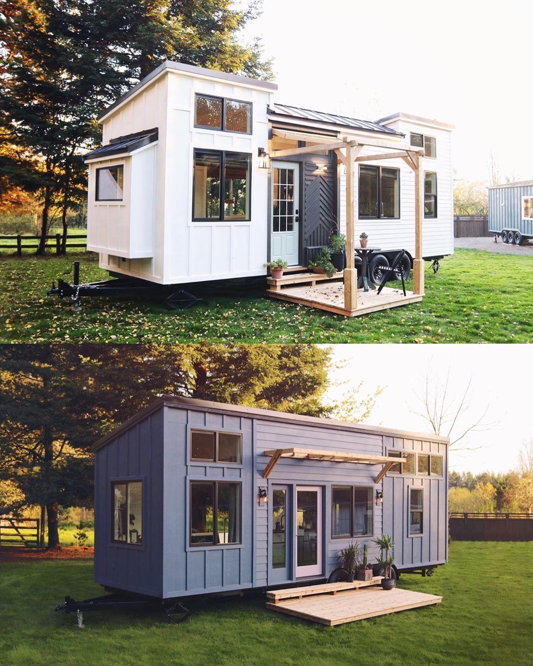 Smallhouse Exterior Ideas: #tinyhousemovement #tinyhouses