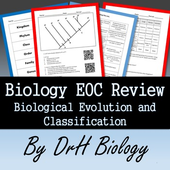 Biology Eoc Review Evolution Classification Study Cards