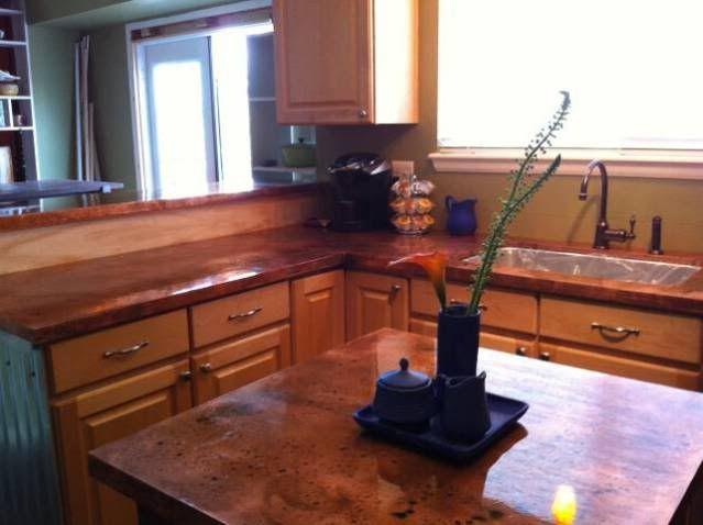 Copper Countertops Diy Best Kitchen Countertops Diy