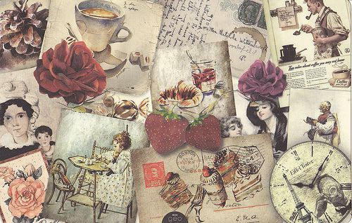 Tumblr Vintage Fashion Backgrounds With Vintage Collage On Tumblr Jpg 500 318 Vintage Collage Vintage Art Vintage