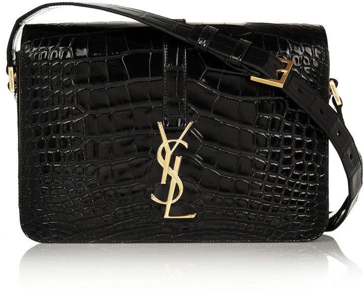 8c174310fe3 Saint Laurent Monogramme Sac Université crocodile shoulder bag   BAG ...