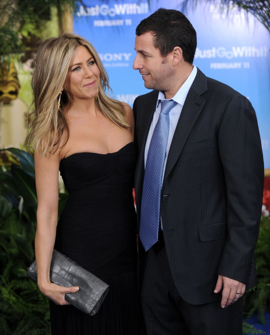 Jennifer Aniston and Adam sandler surprise guests at my
