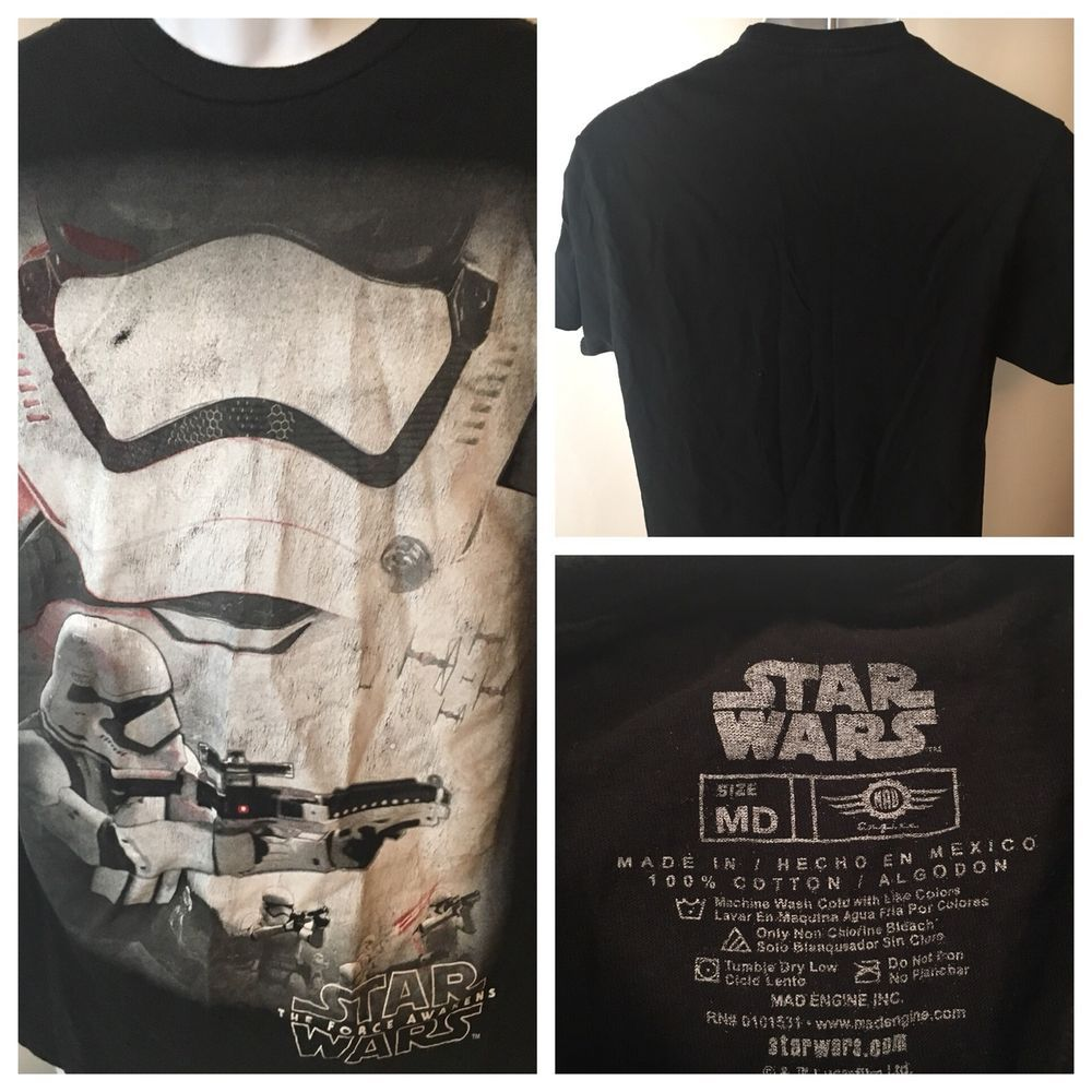 4c0574e2 Star Wars The Force Awakens black t-shirt adult medium M - Star Wars Tshirt