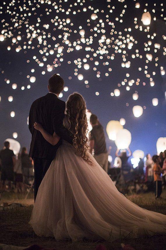 Wedding Sky Lanterns - Chinese Paper Lanterns for Wedding, Graduation, July 4th, Commemorative/ Memo #marshmallow