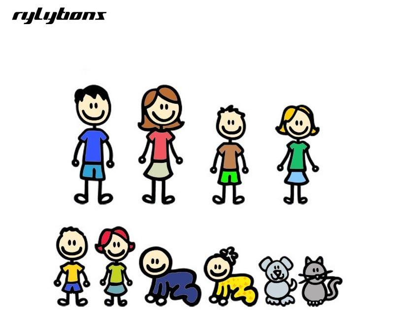 30 Gambar Kartun Lucu Keluarga Bahagia Rylybons Diy Tubuh Mobil Stiker Anime Keluarga Besar 3d Kartun Mobil Stiker Vinyl Stiker Mobil Di 2020 Kartun Kartun Lucu Lucu