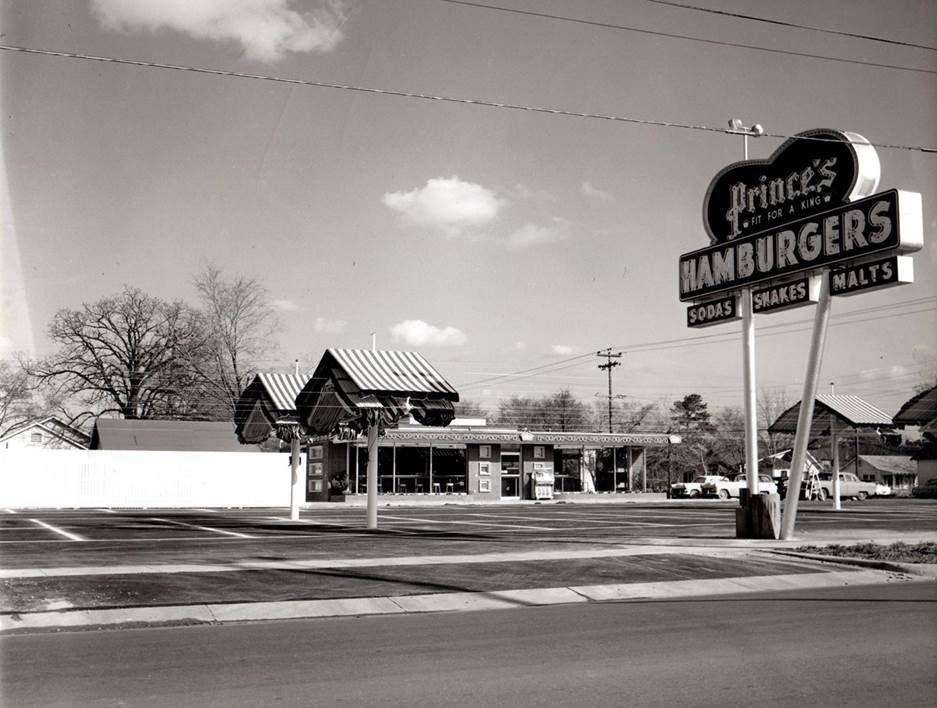 Prince S Drive In Houston Texas February 22 1952 The Day Before Opening On North Shepherd