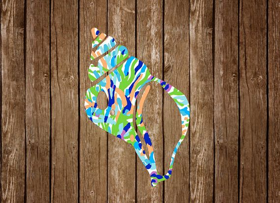 Seashell Conch Colorful Vinyl Sticker Waterproof Decal