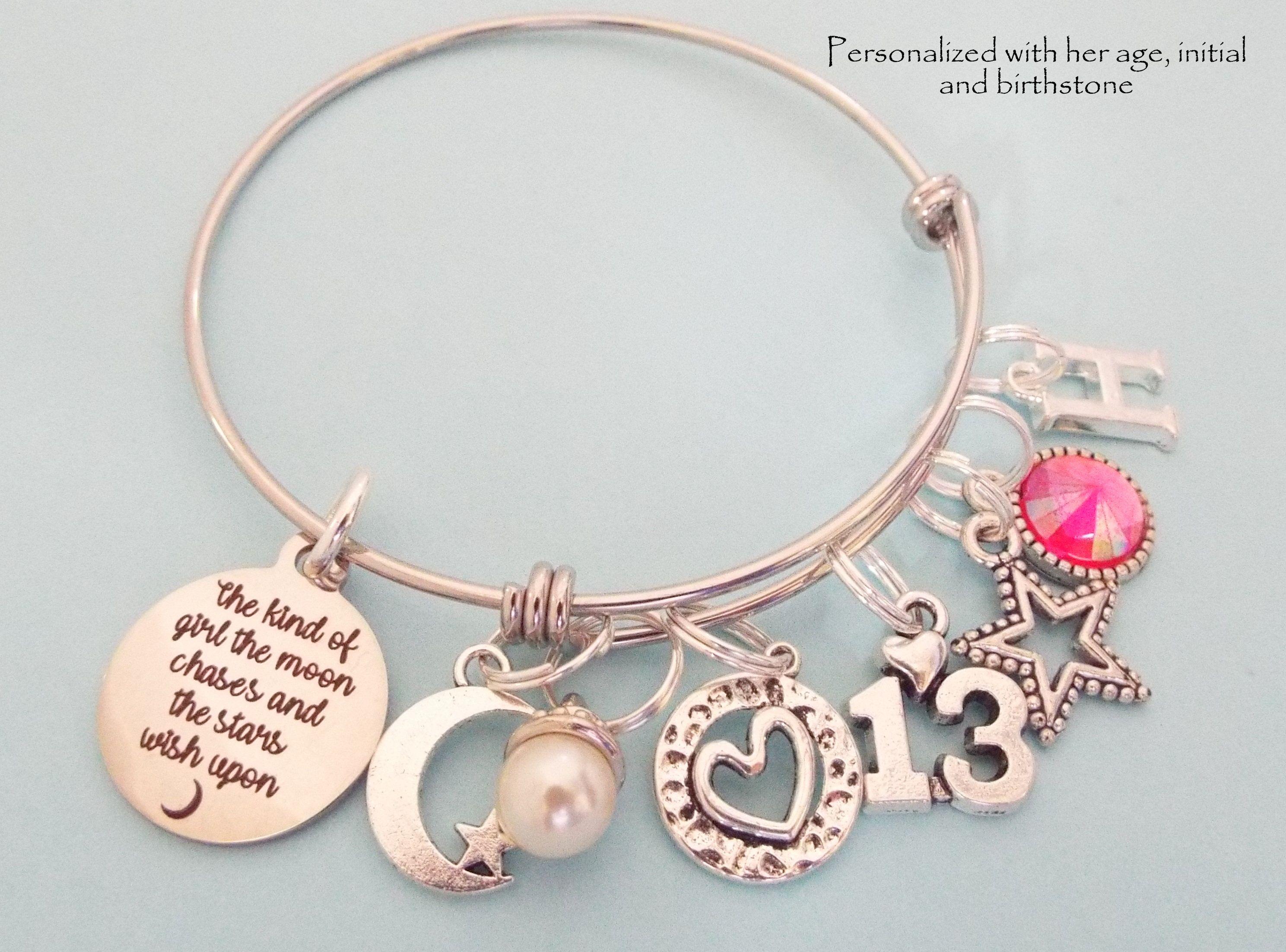 13 Year Old Girl Birthday Gift Daughter 13th Birthday Etsy In 2020 Birthday Gifts For Girls Teenage Girl Gifts Birthday Charm Bracelet
