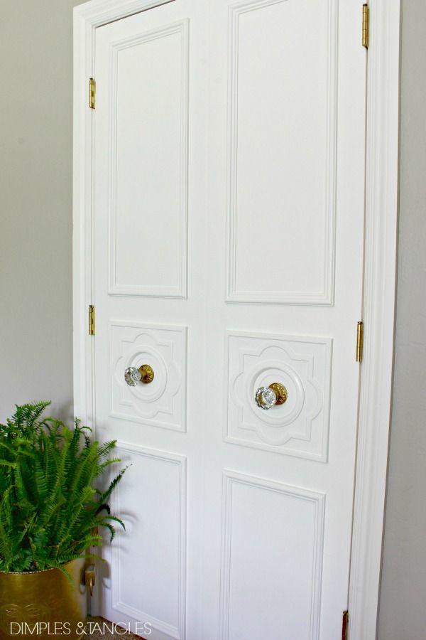 DIY CUSTOM DOOR MOULDING USING A CEILING MEDALLION    Door trim    Custom door molding & DIY CUSTOM DOOR MOULDING USING A CEILING MEDALLION   Ceiling ...