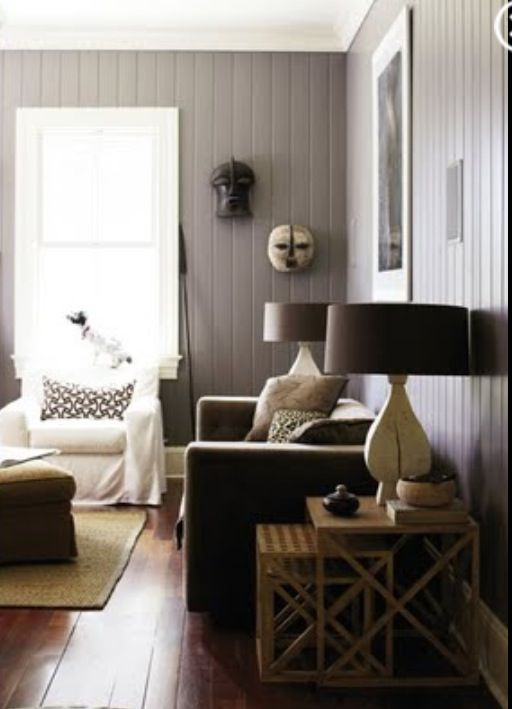 Living Room Wood Paneling Makeover: Miscellaneous House Ideas