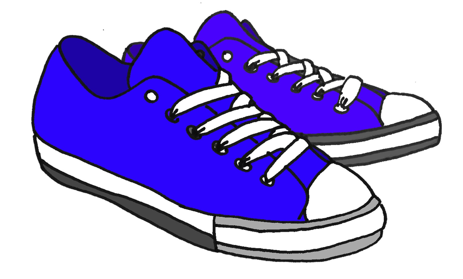 Converse Shoe Walking Clipart Kid Cliparting Com Blue Sneakers Converse Shoe Shoes Clipart