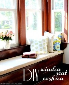 Diy Window Seat Cushion Really Simple No Sew Construction But Not Removable Washable