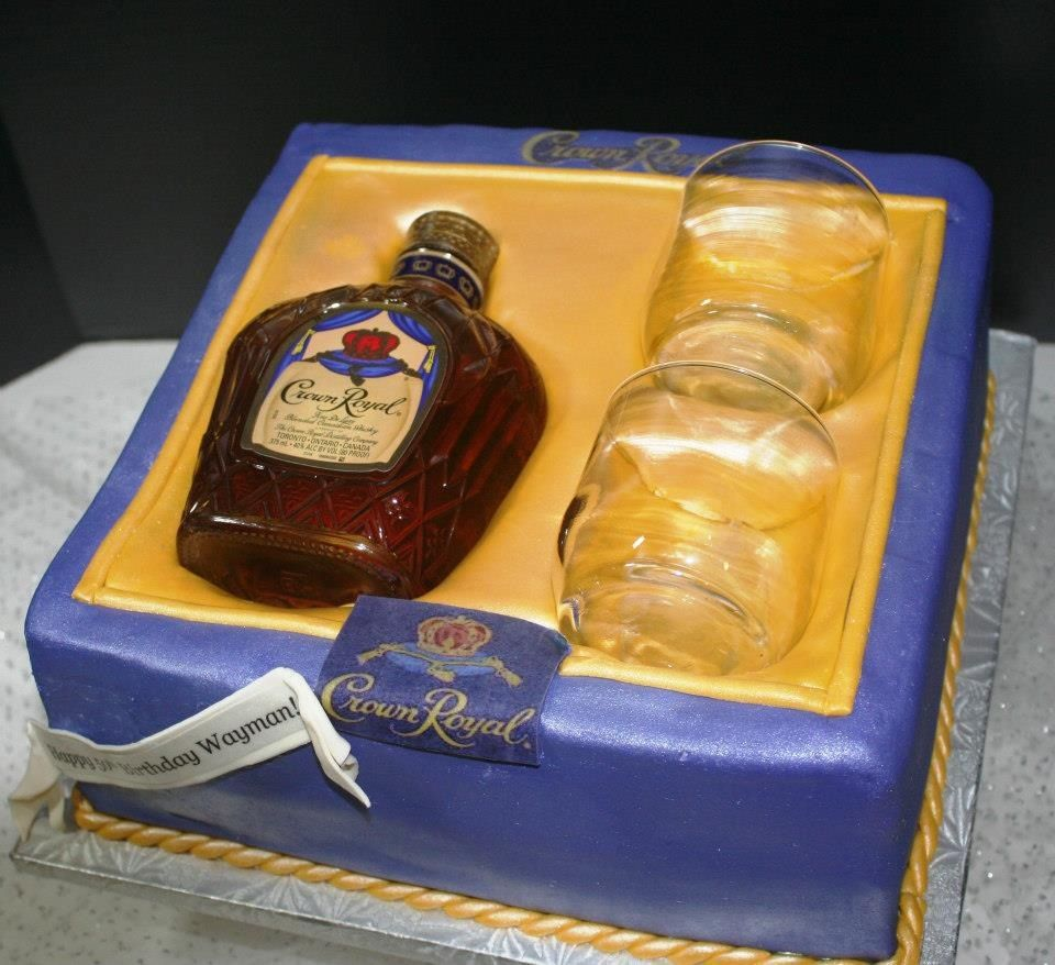 Crown Royal Gift Set Cake Because I Like Cakes Pinterest Cake