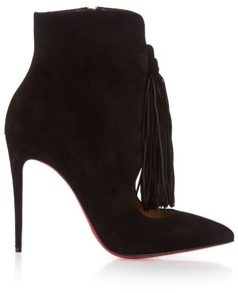 meet 4a6e6 a7cb9 CHRISTIAN LOUBOUTIN Otto suede tassel 100mm ankle boots | II ...