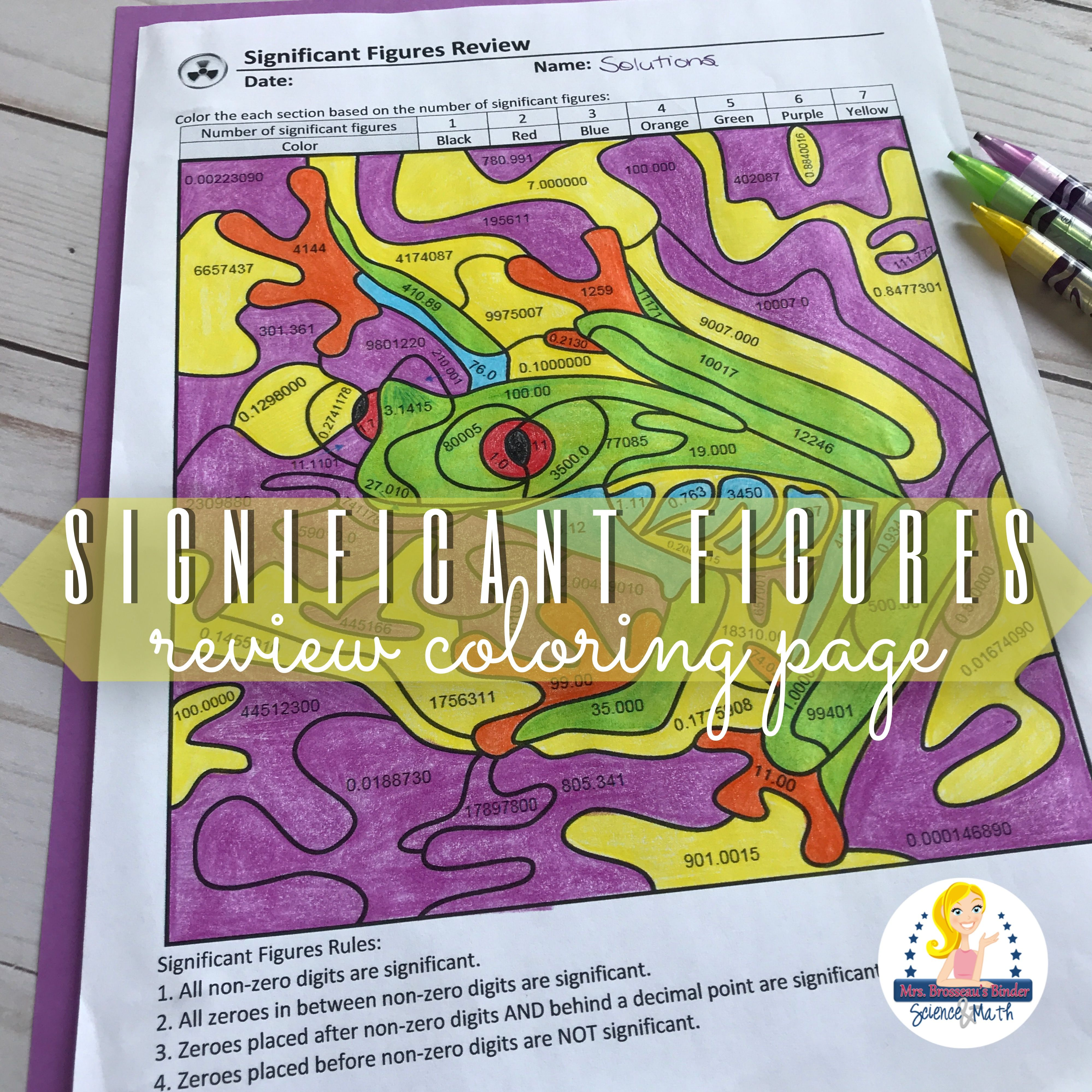 Significant Figures Review Coloring Page Physical Science Coloring Pages Inspirational Coloring Pages [ 3997 x 3997 Pixel ]