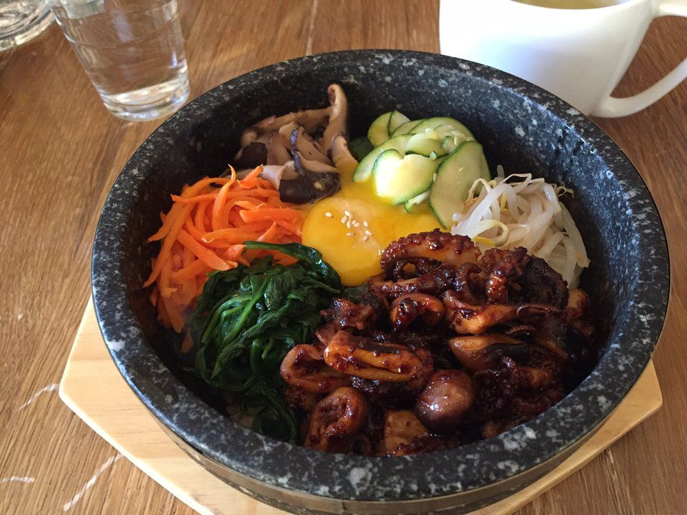 Bibimbap with octopus and brown rice Visit or Order Online