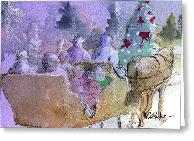 """""""Sleigh Ride""""  Available in cards and prints from Fine Art America."""