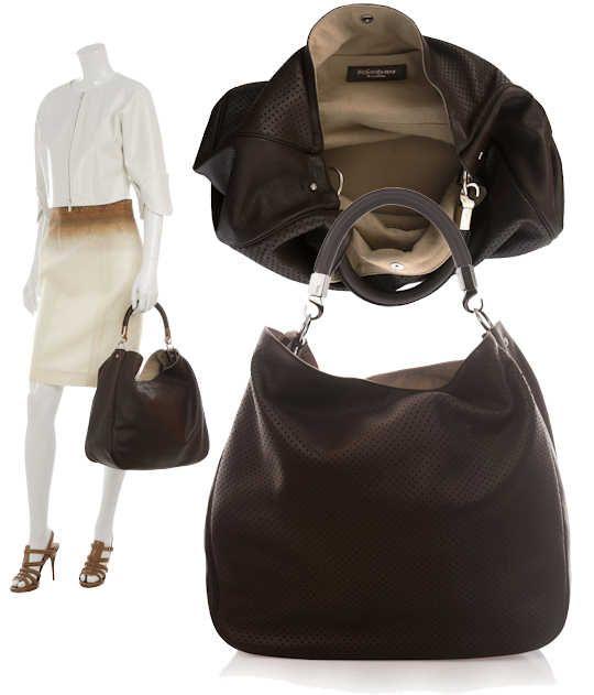 502ae1a8368 ysl hobo   Yves Saint Laurent YSL Perforated Roady Hobo Bag in Brown ...